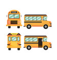 set school bus education vehicle vector image vector image