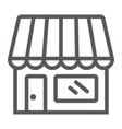 store line icon business and market shop vector image vector image