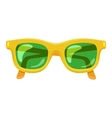 Sun glasses summer accessory vector image vector image