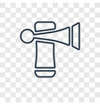 trumpet concept linear icon isolated on vector image