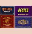 vintage fonts bundle vector image vector image