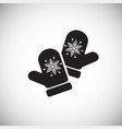 warm mittens on white background vector image vector image