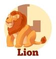 ABC Cartoon Lion2 vector image