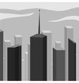 Abstract corporate city skyscraper vector image
