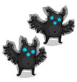 fun black ghost scary isolated on white background vector image