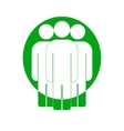 Group of people sign icon Share symbol UI vector image