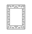 frame rectangle card vector image
