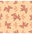 seamless background with polka dots and vector image