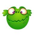 cute cartoon green alien head vector image