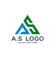 a s logo concept initial as vector image vector image