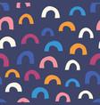 abstract half circle doodle shapes orange pink vector image