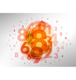 abstract numbers orange vector image vector image