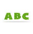 alfavit from the leaves of the clover letters abc vector image vector image