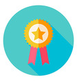 Award Gold medal with Star Circle Icon vector image vector image