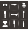 black terrorism icons set vector image vector image