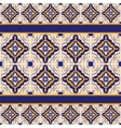 Blue and yellow ceramic tile pattern vector image