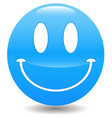 Blue smile vector image