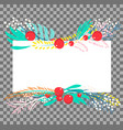 botanical banner vector image vector image