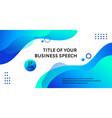 business conference template liquid blue vector image