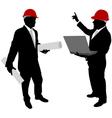 businessmen with hard hat vector image