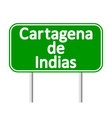 Cartagena de Indias road sign vector image vector image