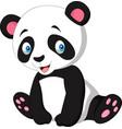 cartoon cute panda isolated on white background vector image