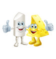 chalk and cheese friends vector image vector image