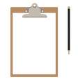 Clipboard and pencil vector image vector image