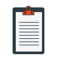clipboard document isolated icon vector image vector image