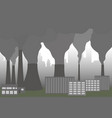 clouds of smoke from factory chimney vector image vector image