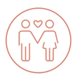 Couple in love line icon vector image vector image