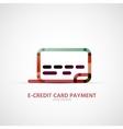 Credit card company logo business symbol concept vector image