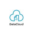 data cloud logo design symbol vector image