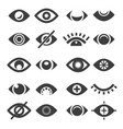 eye icon set vector image vector image