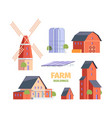 farm houses old village constructions medieval vector image vector image