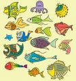 fish illustrations vector image vector image