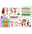 flat circus composition vector image