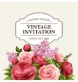floral frame with flowers bouquet vector image