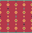 folk beads on red seamless pattern vector image