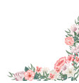 frame of roses tulips and different flowers vector image vector image