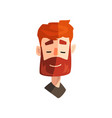 friendly redhead bearded man male emotional face vector image vector image