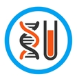 Genetic Analysis Rounded Icon vector image vector image