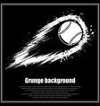 grunge black baseball background vector image
