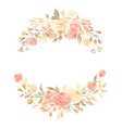 hand painted pastel watercolor wreath flower