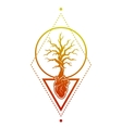 Heart of the tree as a symbol of life vector image