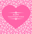 heart roses pink vector image vector image
