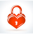 heart shaped lock st valentines day design vector image vector image