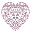 heart with valentines decorative elements vector image vector image