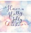 holly jolly christmas vector image vector image