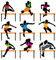 hurdles set vector image